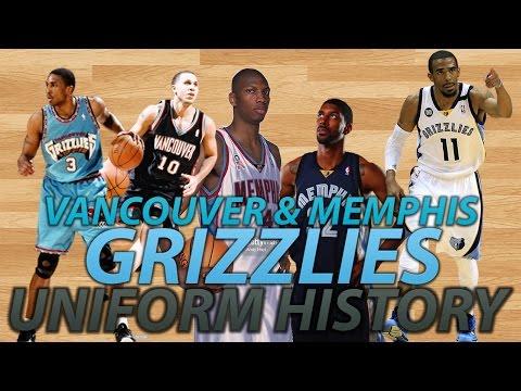 NBA Uniform History   Vancouver Grizzlies & Memphis Grizzlies
