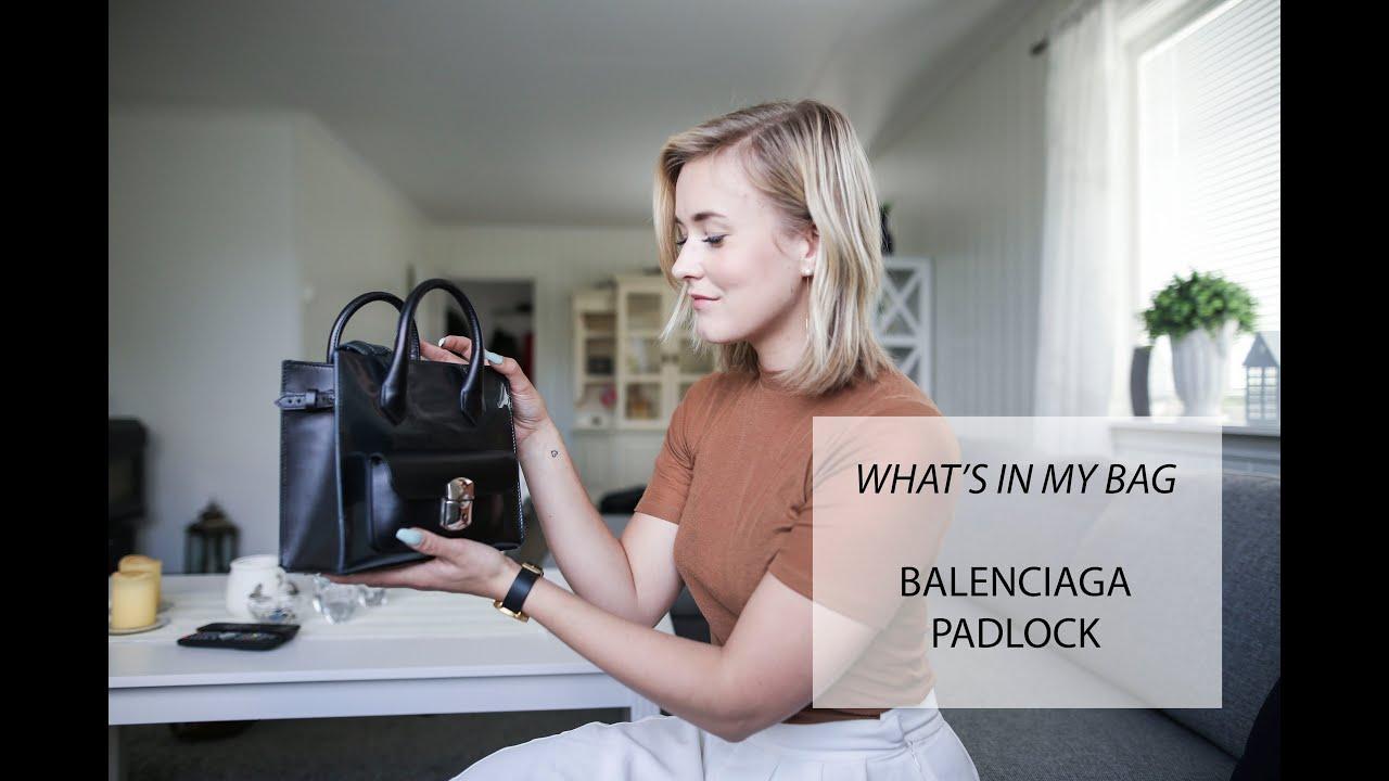 3e9711a1c9 What s in my bag - Balenciaga Padlock. Kaja Marie
