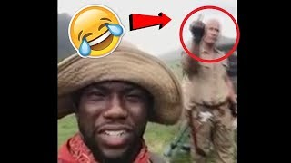 Funny Moments With Kevin Hart & The Rock During Jumanji Movie Shooting