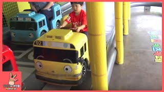 타요 키즈 카페 어린이 자동차 꼬마버스 운전 놀이 ♡ 타요 버스 자동차 장난감 Tayo car toys kids cafe тайо | 말이야와아이들 MariAndKids