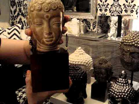 Home Decor My Collection Of Buddha Heads Youtube