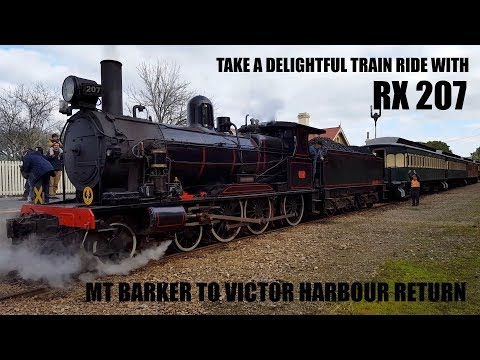 RX207 4-6-0 Steam train ride Mt Barker to Victor Harbour July 2016
