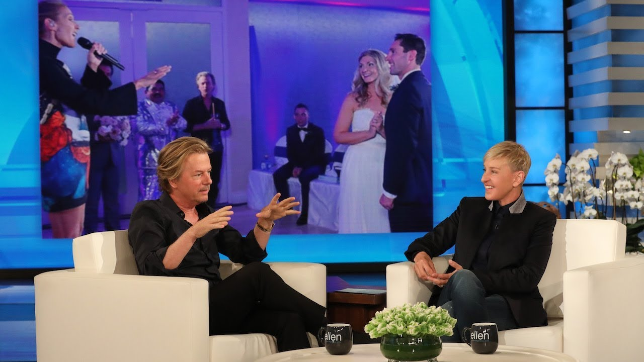 David Spade Gave Céline Dion a Pep Talk Before Crashing a Wedding