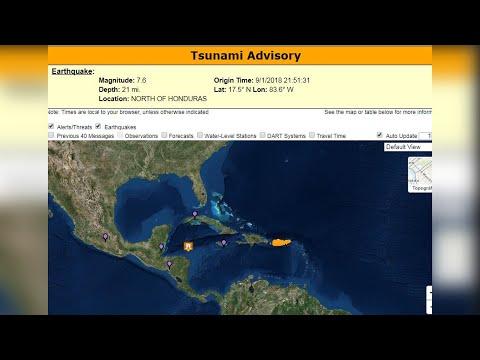 Fuerte terremoto en el Caribe entre Honduras y Cuba con alerta de tsunami