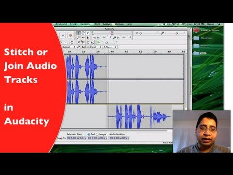 Stitch / Join Audio Tracks in Audacity