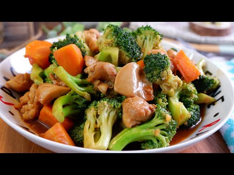 Super Easy One Dish Meal: Chinese Chicken Broccoli 西兰花炒滑鸡 Simple Chinese Stir Fry Chicken Recipe