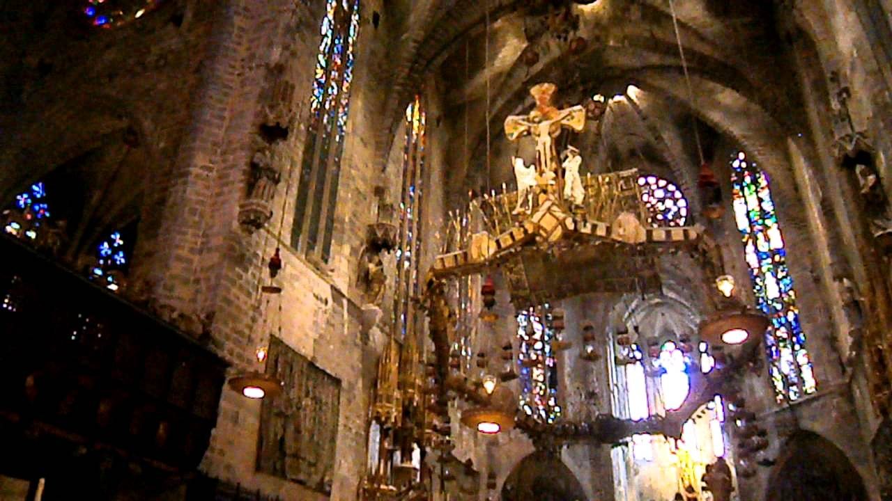 inside palma majorca cathedral la seu