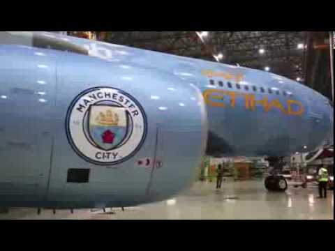 Etihad Airways unveils its new Manchester City livery