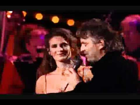 Andrea Bocelli and his fiancé Veronica Berti
