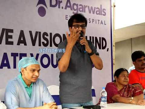 ACTOR VIVEK|Dr.Agarwal eye hospital|Awareness Human chain on Eye Donation