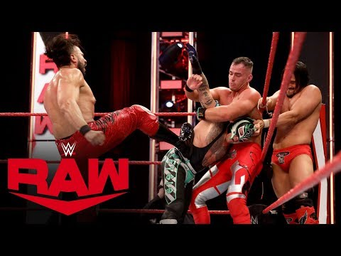 Mysterio, Black & Crews vs. Andrade, Garza & Theory: Raw, April 27, 2020