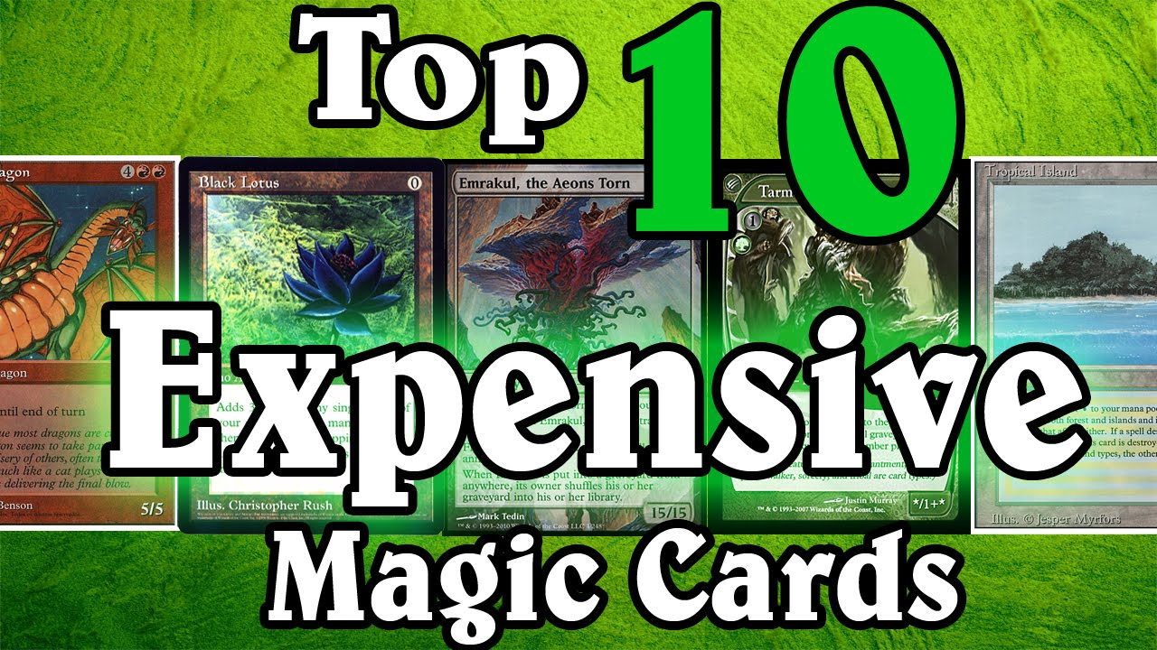 MTG Top Ten: Expensive Cards - YouTube