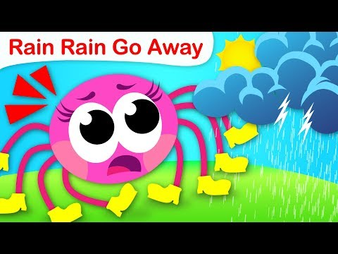 Free Download Rain, Rain, Go Away |  Farm Animals & Itsy Bitsy Spider Want To Play | Nursery Rhyme By Little Angel Mp3 dan Mp4