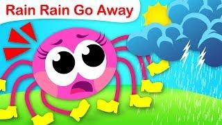 Rain, Rain, Go Away |  Farm Animals & Itsy Bitsy Spider Want to Play | Nursery Rhyme by Little Angel