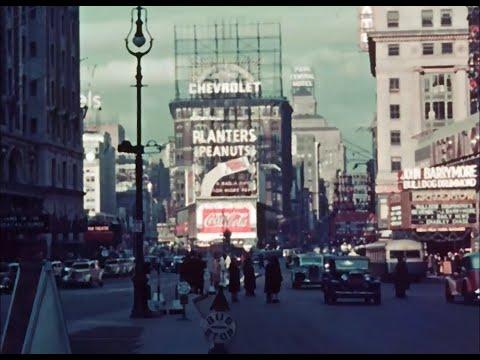 New York in the mid 1930's in Color!