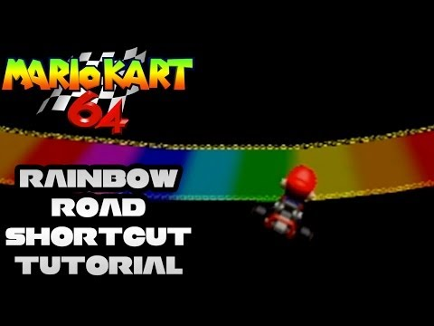 Jumping Off the Road - Rainbow Road (Nintendo 64)