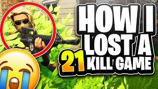 How I Lost A 21 Kill Solo Game... (Fortnite Battle Royale)