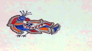 Madhubani art peacock ::The Easy way to draw !  Final