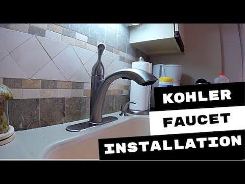 Kohler Mistos Kitchen Faucet Installation Youtube