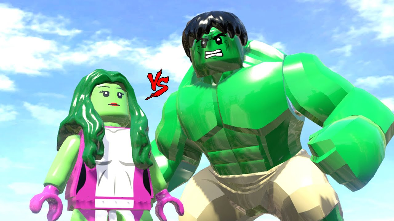 HULK VS SHE HULK - LEGO FIGHT (LEGO MARVEL SUPER HEROES ...