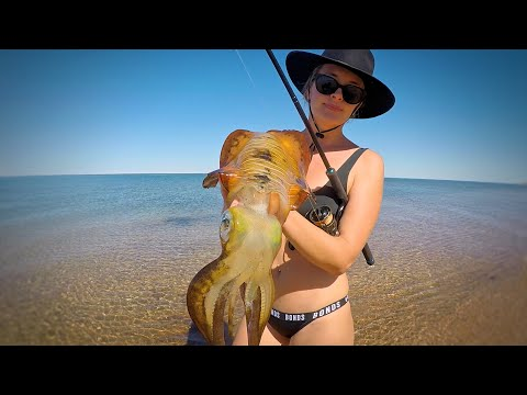 THE HUNT - EP 9 CATCHING SQUID (FINDING SQUID, TROLLING, CASTING, SQUID JIGS + CATCH AND COOK)