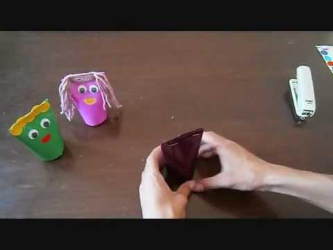 יצירת בובות מגליל ניר טואלט
