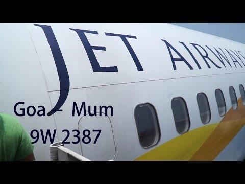 Jet Airways Business 737-800, Goa-Mumbai May 2015