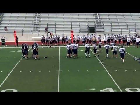 Nate #54 inter-squad scrimmage 4/28/2016 Smithson Valley High School Rangers Varsity Football