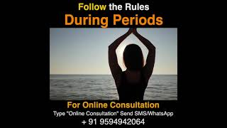 Follow the Rules During Periods | #drarunmishrashorts