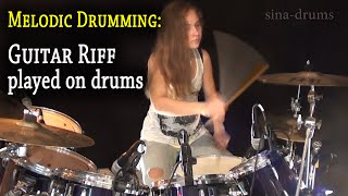 Seven Nation Army (White Stripes); Riff played on drums (by Sina)