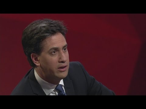 """Hell yes, I'm tough enough."" Ed Miliband to Jeremy Paxman 