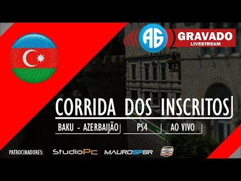 LIVE F1 2017 CORRENDO COM OS INSCRITOS NO PLAYSTATION 4 (Português-BR) GP DO BAKU
