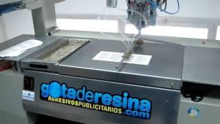 Máquina de aplicación de gota de resina