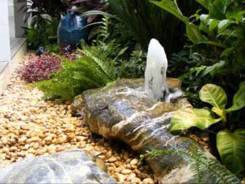 การแต่งสวนด้วยหิน วิธีจัดสวนน้ําตก