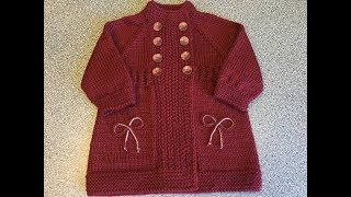 Вяжем пальто для девочки спицами