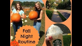 Fall Night Routine Thumbnail