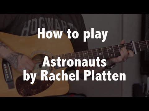 How to play Astronauts (Rachel Platten) with & without capo - guitar lesson - Jen Trani