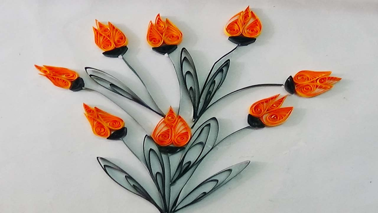 Paper Quillinghow To Make Beautiful Flower Using Paper Art Quilling