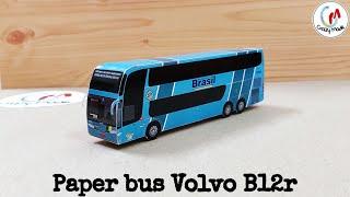 How to make bus of paper Easy - VOLVObrasil