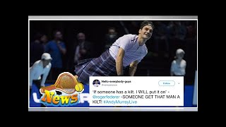 Roger federer wore a kilt to a tennis match and it's cooler than you'll ever be