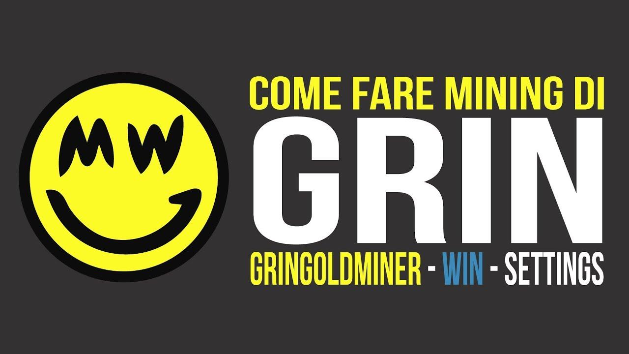 Rictoken - GRIN Mining WIN Setup #italian