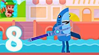 Bowmasters - SHARK SAD DANCE KING!!! (iOS /Android) Gameplay Walkthrough - Part 8