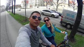 Bike ride through Munich Germany
