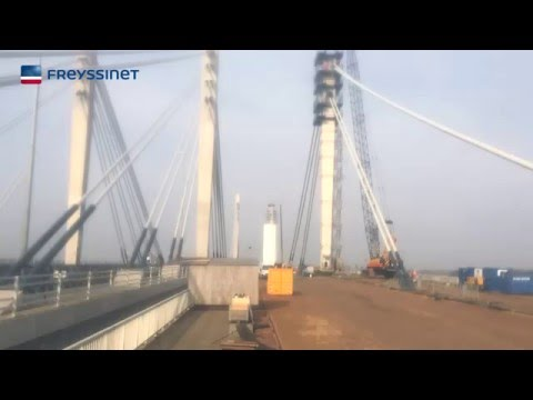 Stay Cable Installation - Bridge Ewijk
