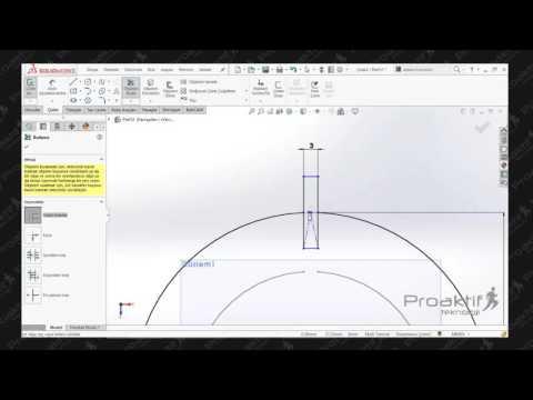 SolidWorks Parça   88  Saç Levha Uygulama Tekrarı