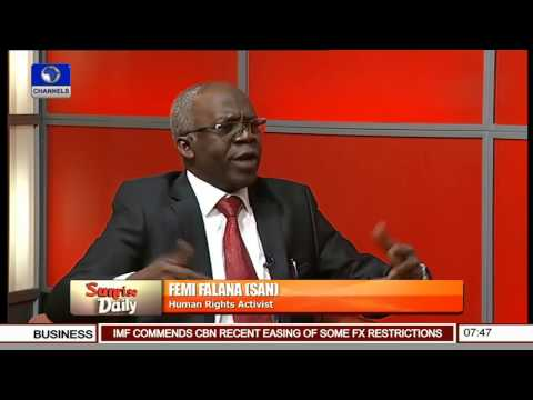 Senate: No Constitutional Rights To Suspend Its Members Even For A Single Day -- Femi Falana Pt 1