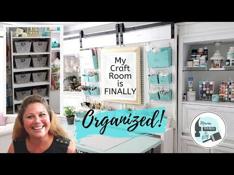 Guest Room/Craft Room Makeover, Reorganize & Room Tour