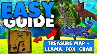 Dusty Depot Treasure Map & Llama, Fox, Crab Locations   Easy Guide   Fortnite Battle Royale