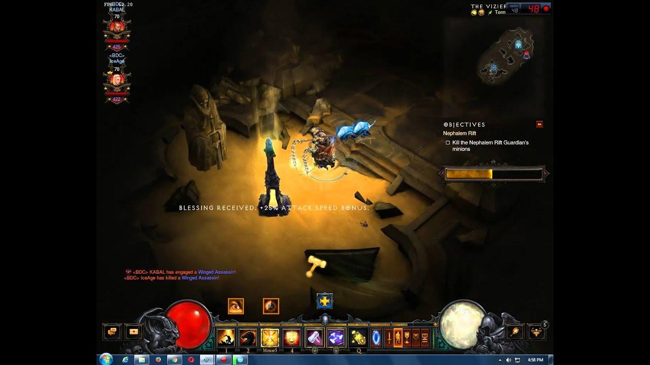 Diablo  Blessed Hammer Build