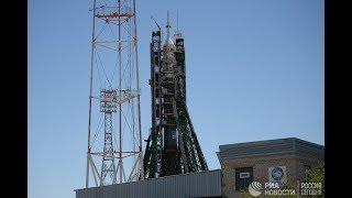 """Запуск корабля """"Союз МС-09"""" с космодрома Байконур"""